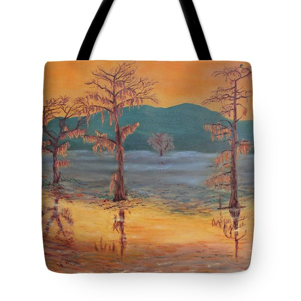 Evening On Caddo Lake Tote Bag