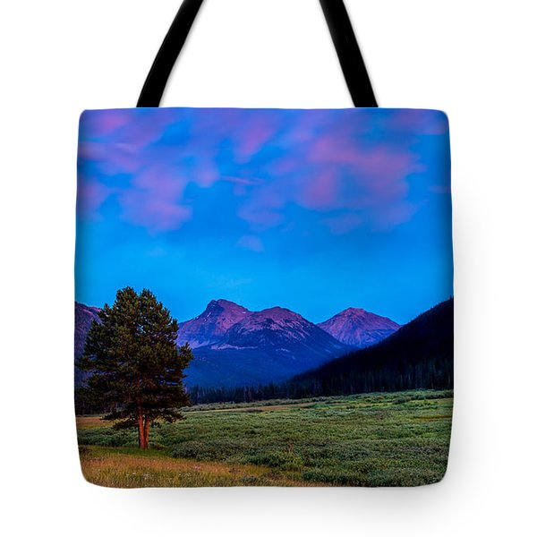 Evening At Christmas Meadows Tote Bag