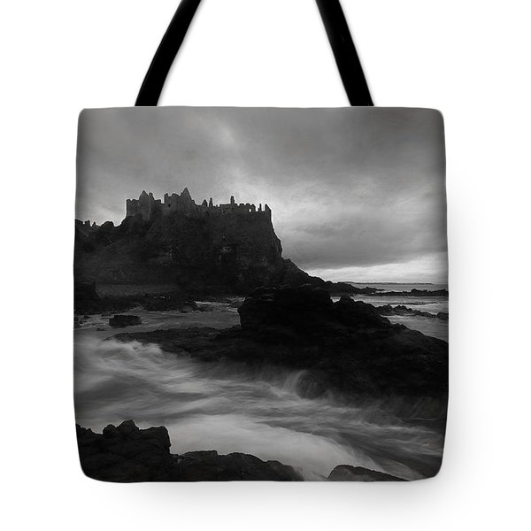 Tote Bag featuring the photograph Evening At Dunluce by Roy  McPeak