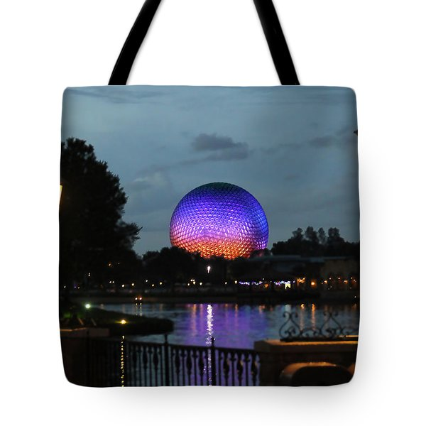 Evening At Epcot Tote Bag