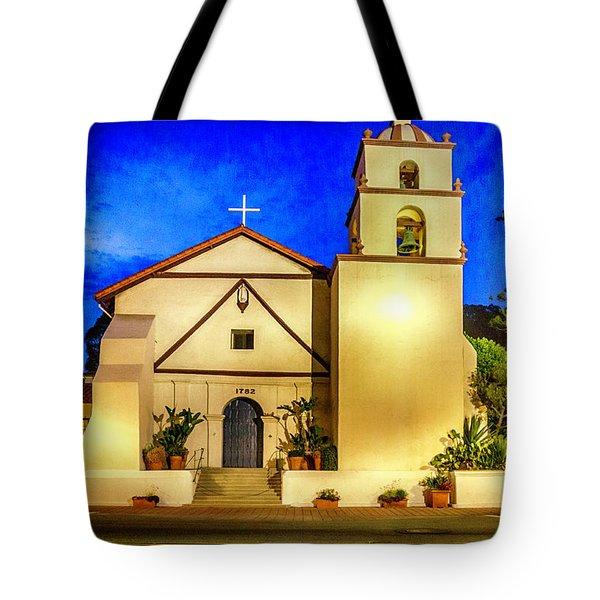 Evening At Mission San Buenaventura Tote Bag