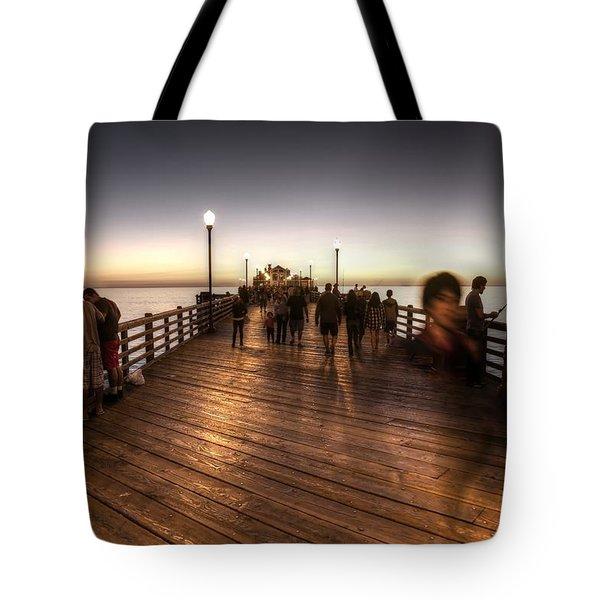 Evening At Oceanside Pier Tote Bag