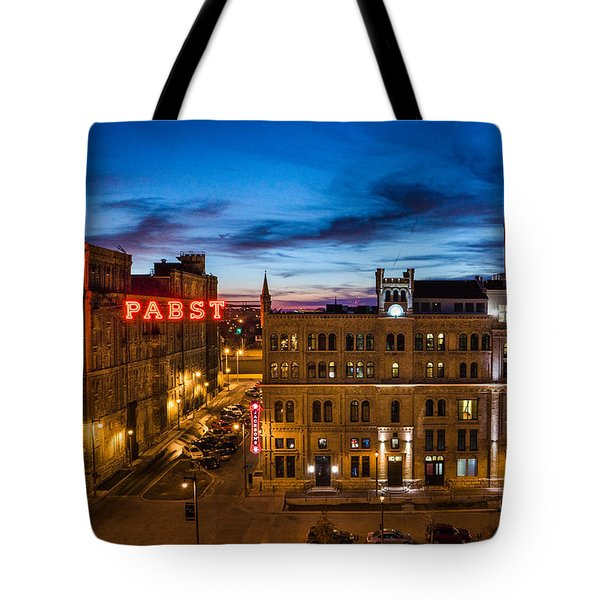 Evening At Pabst Tote Bag by Bill Pevlor