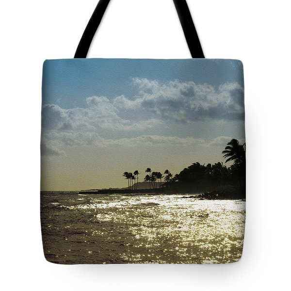 Evening At Poipiu Kauai Tote Bag