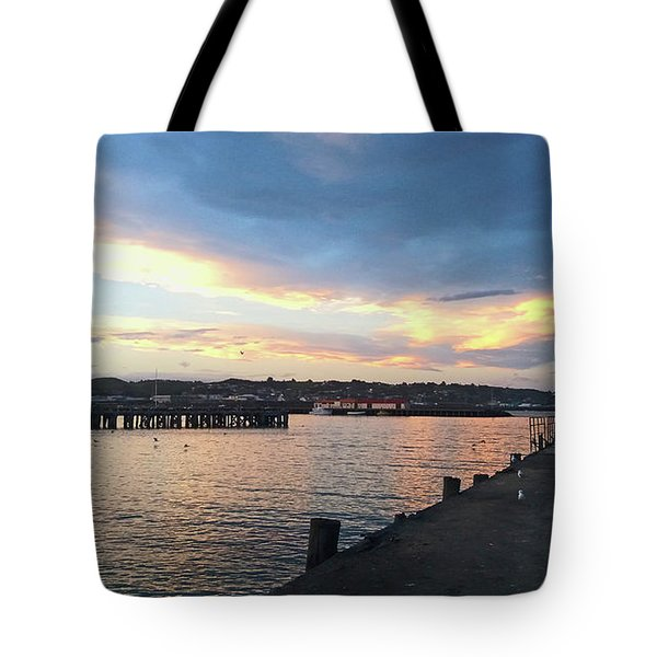 Tote Bag featuring the photograph Evening At The Bay by Nareeta Martin