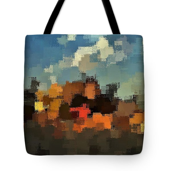 Tote Bag featuring the digital art Evening At The Farm by David Manlove