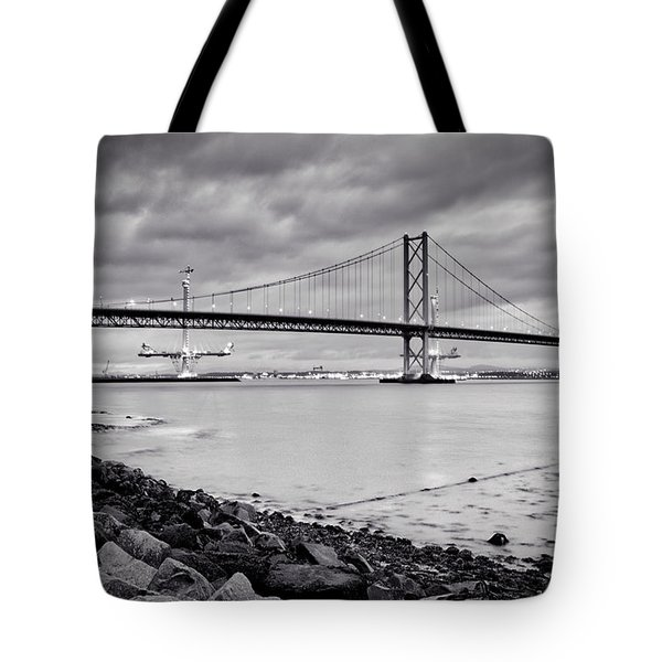 Evening At The Forth Road Bridges Tote Bag