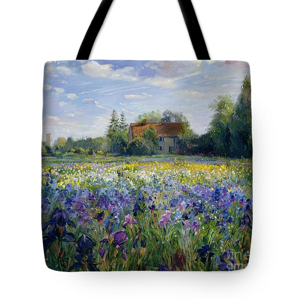 Evening At The Iris Field Tote Bag