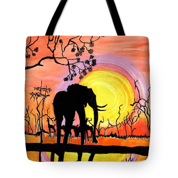Evening At The Pond Tote Bag