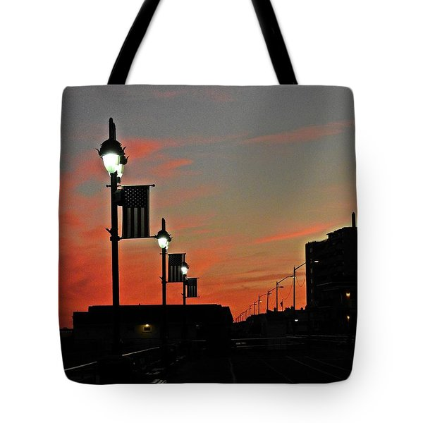 Evening At The Shore Tote Bag by Allen Beilschmidt