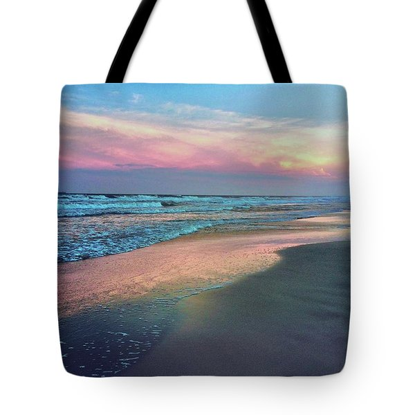 Evening Beach Pastels Tote Bag