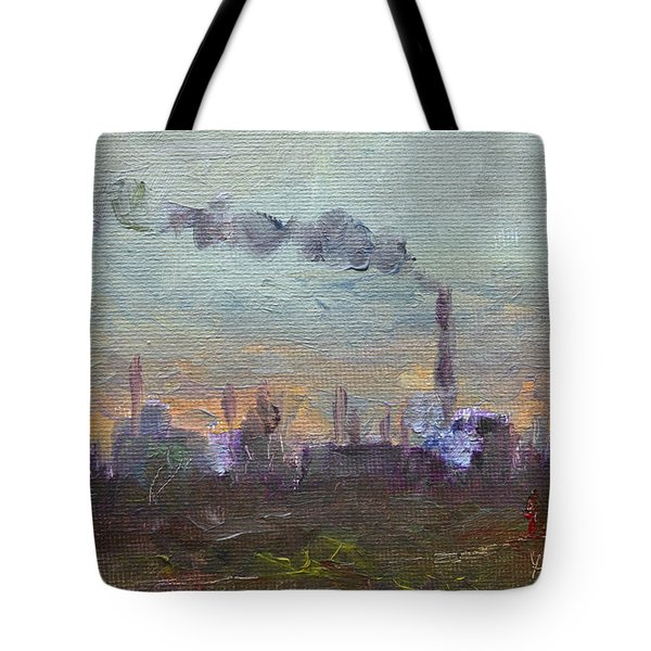 Evening By Industrial Site Tote Bag