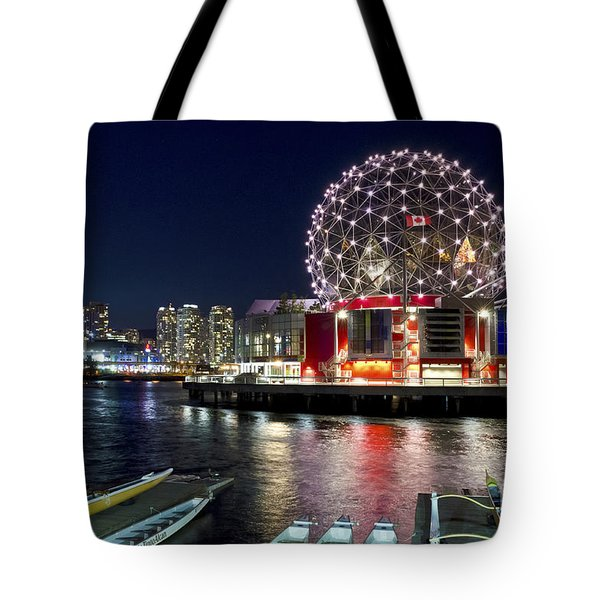 Evening By Science World Vancouver Tote Bag