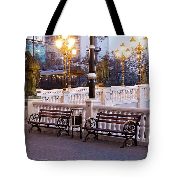 Evening By The Bridge Tote Bag by Rae Tucker