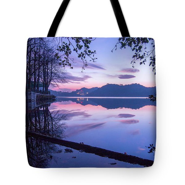 Evening By The Lake Tote Bag