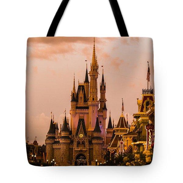 Evening Castle Tote Bag