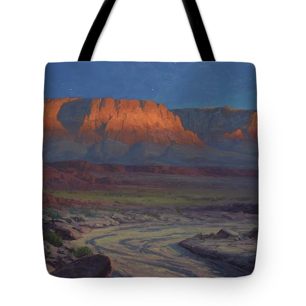 Evening Comes To Marble Canyon Tote Bag