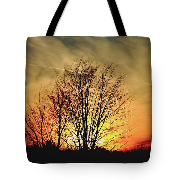 Tote Bag featuring the photograph Evening Fire by Bruce Patrick Smith