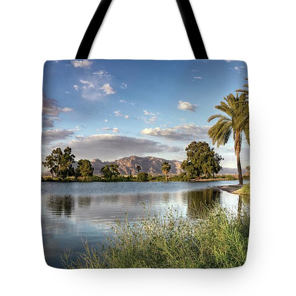 Evening Fishing Tote Bag