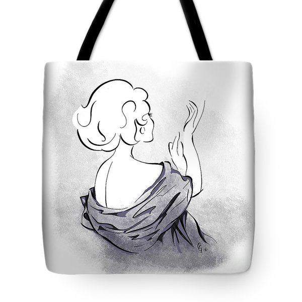 Tote Bag featuring the digital art Evening Gloves by Cindy Garber Iverson
