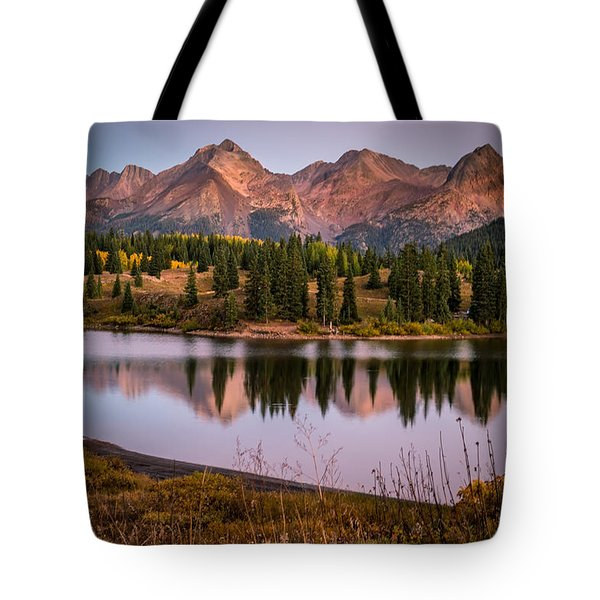 Evening Glow At Molas Lake Tote Bag