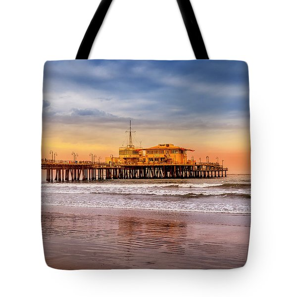 Evening Glow At The Pier Tote Bag