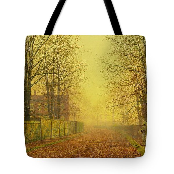 Evening Glow Tote Bag by John Atkinson Grimshaw
