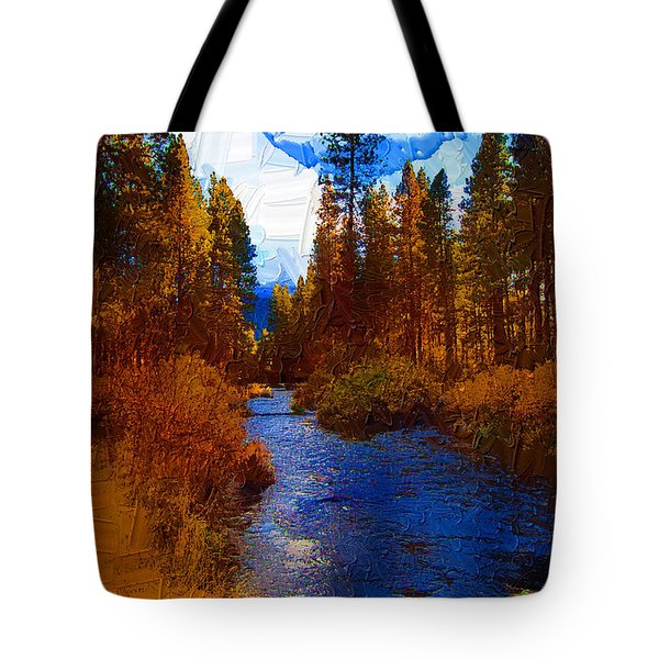 Evening Hatch On The Metolius Painting Tote Bag