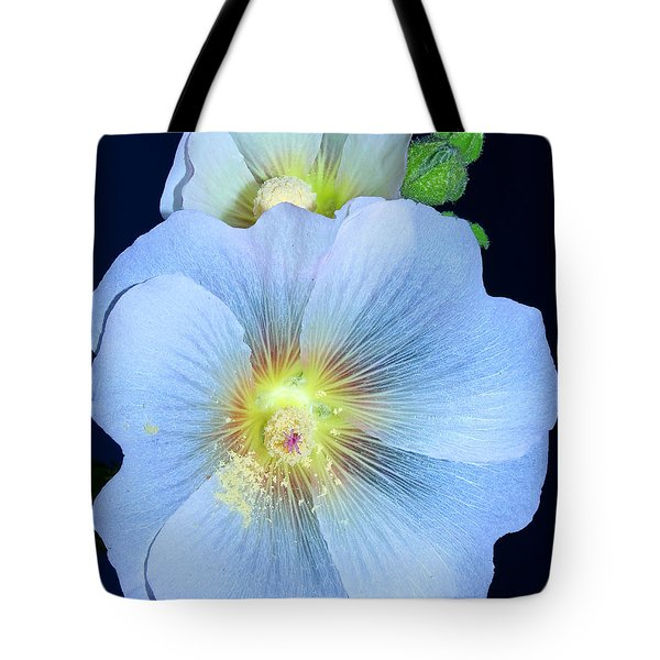 Evening Hollyhock Tote Bag