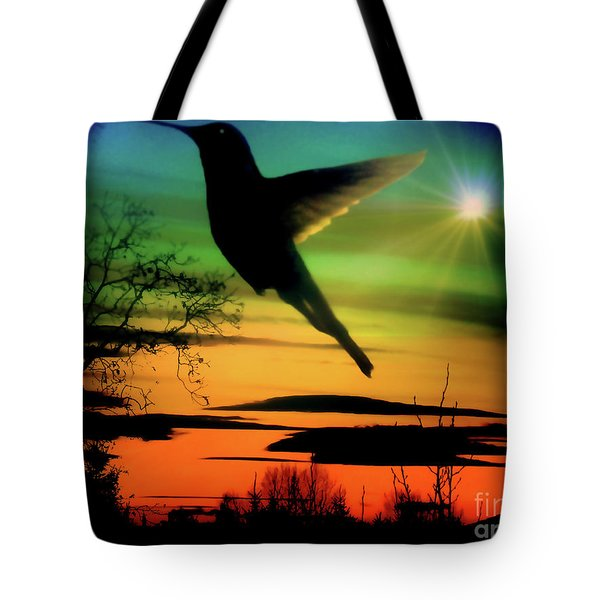 Evening Hummingbird II Tote Bag