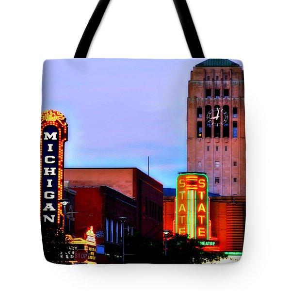 Evening In Ann Arbor Tote Bag