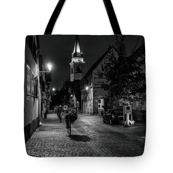 Tote Bag featuring the photograph Evening In Bergheim by Alan Toepfer