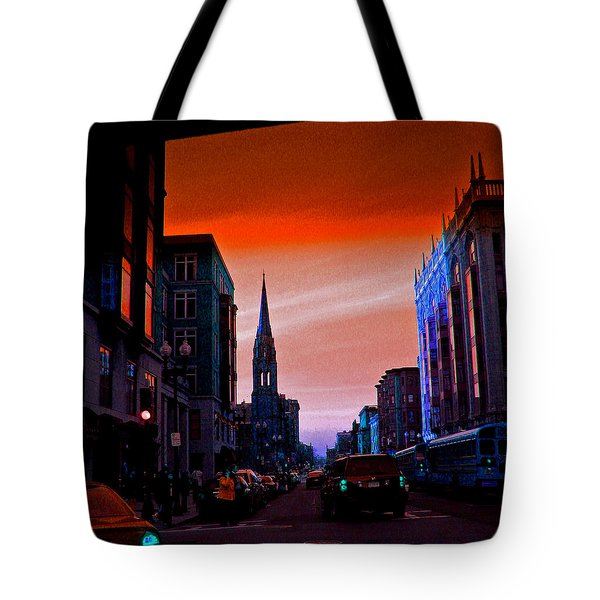 Evening In Boston Tote Bag