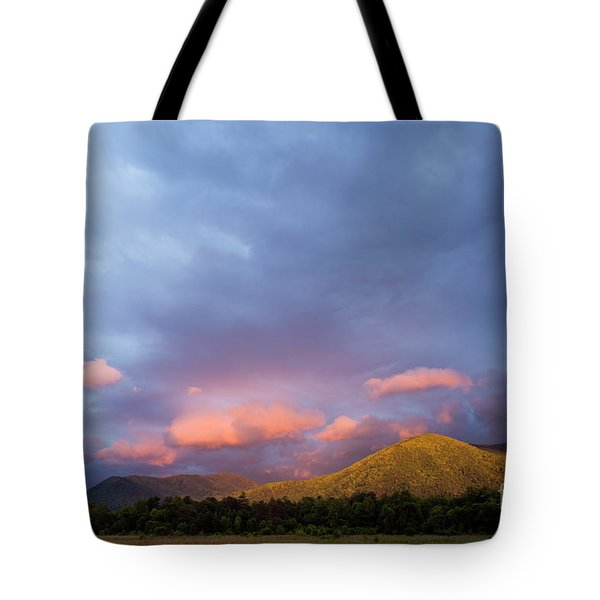 Tote Bag featuring the photograph Evening In Cades Cove - D009913 by Daniel Dempster