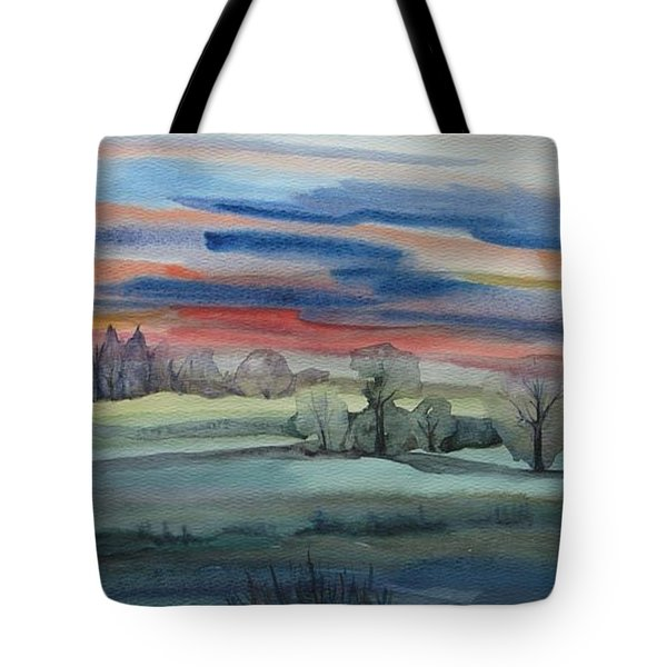 Tote Bag featuring the painting Evening In Fishcreek Park by Anna  Duyunova