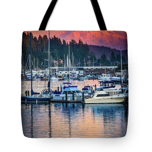 Evening In Gig Harbor Tote Bag