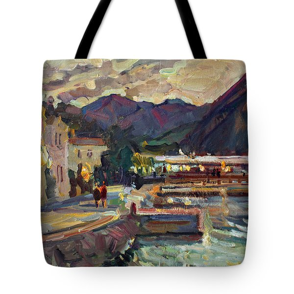 Evening In Prcanj Tote Bag