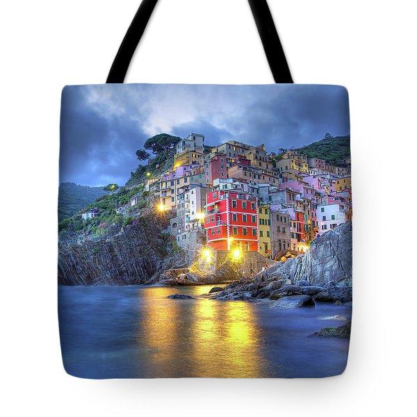 Evening In Riomaggiore Tote Bag