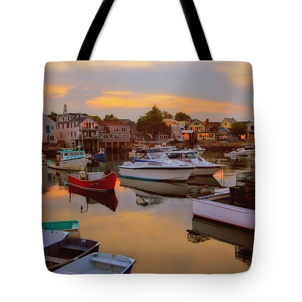 Evening In Rockport Tote Bag by Joann Vitali
