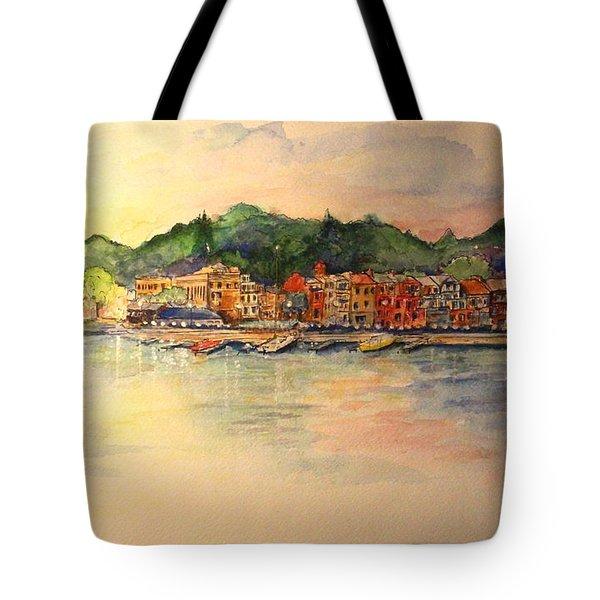 Evening In Skaneateles Tote Bag