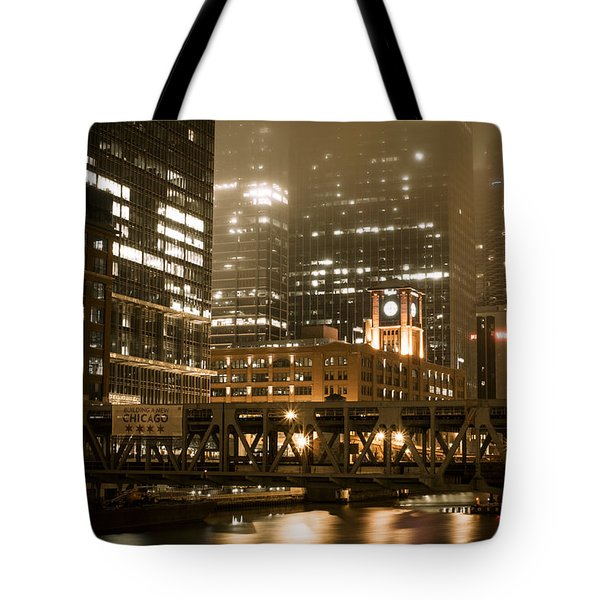 Evening In The Windy City Tote Bag