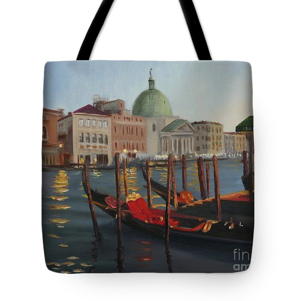 Evening In Venice Tote Bag