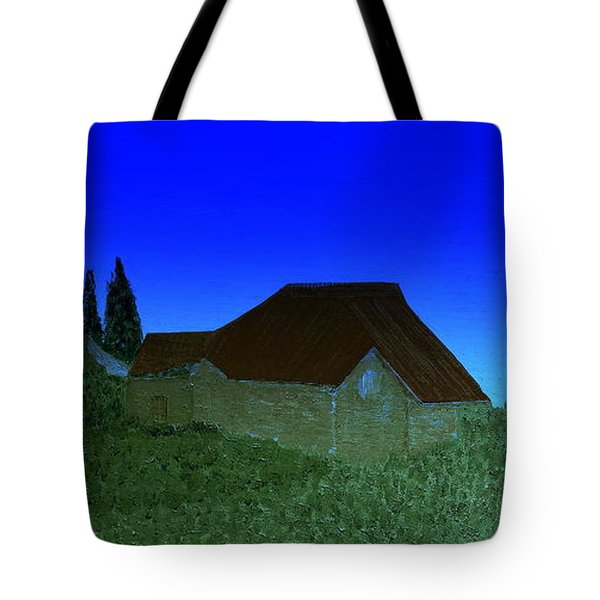 Tote Bag featuring the painting Evening In Vevey by Bill OConnor