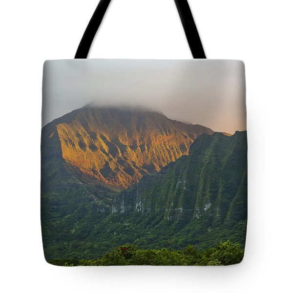 Evening Light On Ko'olau Mountains Tote Bag