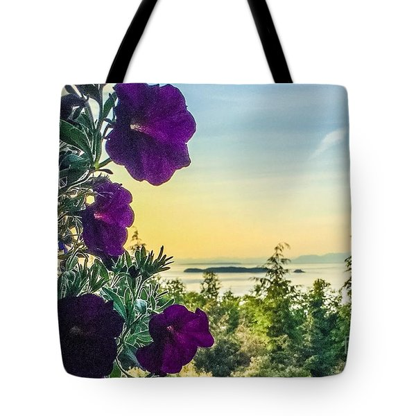 Evening Light On Orcas Island Tote Bag