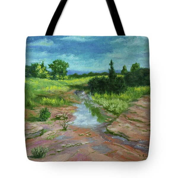 Evening Light Tote Bag by Roena King