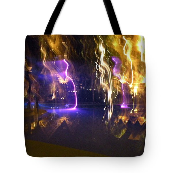 Evening Light Show At The Grand Mayan Tote Bag