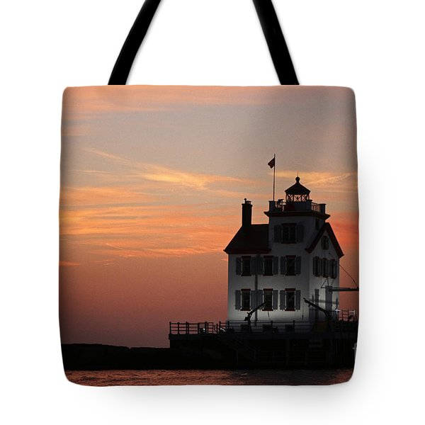 Evening Lighthouse 5 Tote Bag