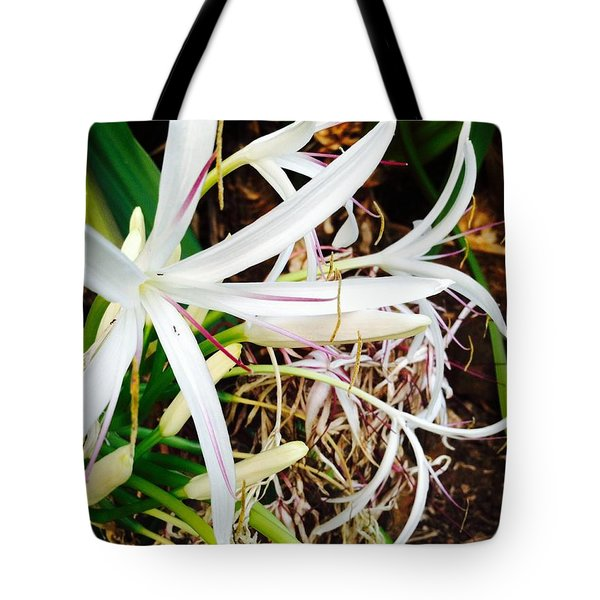 Tote Bag featuring the photograph Evening's Lily II by Alohi Fujimoto