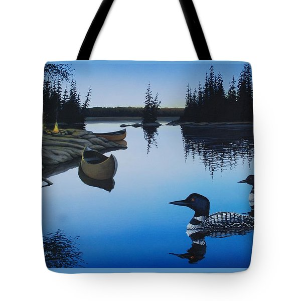 Evening Loons Tote Bag